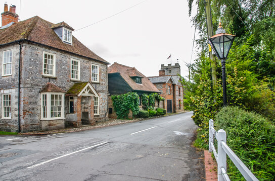 St Mary Bourne Village in Hampshire, England, UK