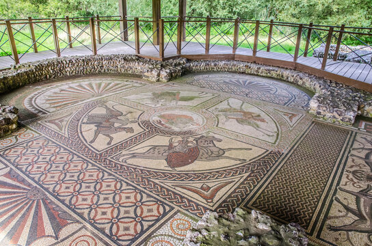 Large Roman Mosaic near Littlecote House Wiltshire
