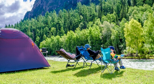 camping in the park