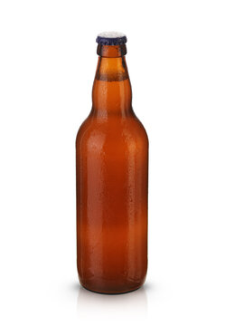 brown full bottle with beer