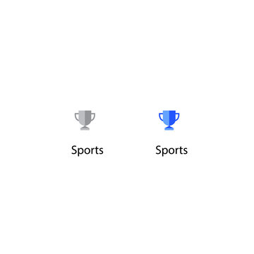 Youtube Sports Icon Vector. Trophy, Award, Champion Symbol of Channel