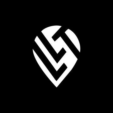 LVT letter logo design on black background. LVT creative initials letter logo concept. ko letter design.