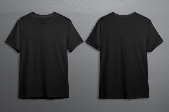 Black t-shirts with copy space