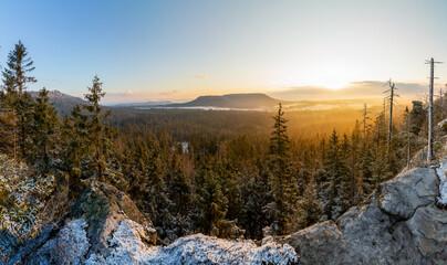 Fototapeta Góry Stołowe formy skalne Szczelińca Wielkiego obraz