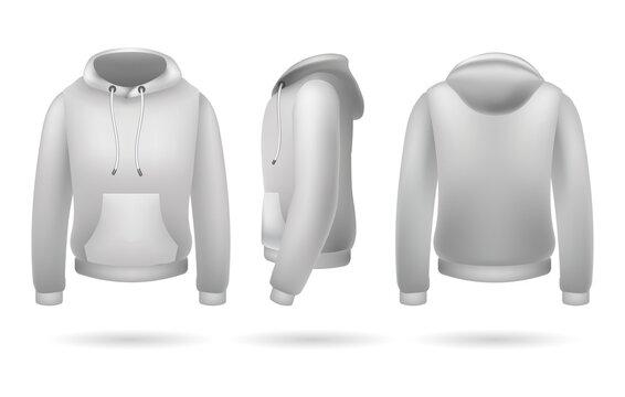 Realistic sweatshirt with hood