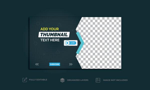 YouTube Thumbnail template, video thumbnail vector design