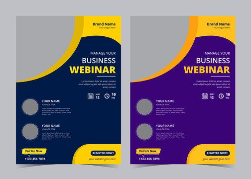Business webinar flyer, business flyer