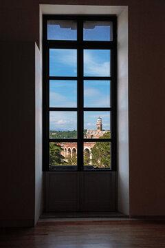 Verona - piazza Brà vista dalla Gran Guardia
