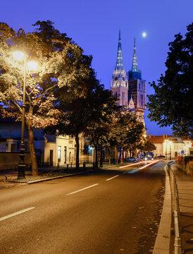 Zagreb under the moon