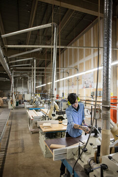 Supervisor working in distribution warehouse