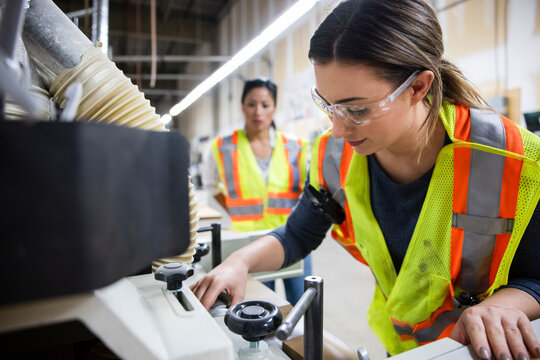 Worker working in distribution warehouse