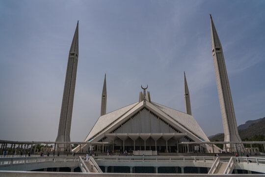 The Faisal Mosque located in the capital of Pakistan, the city of Islamabad.