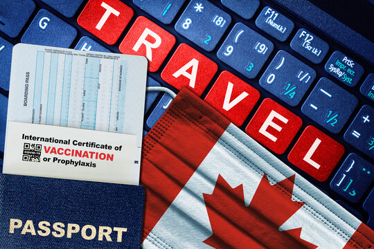Canada Vaccine Passport Concept of New Normal Travel During COVID-19 Pandemic