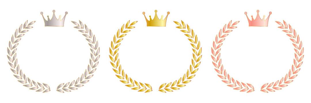王冠 ローレル 金 アイコン