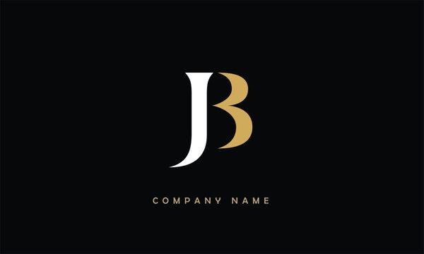 JB, BJ, J, B Abstract Letters Logo Monogram