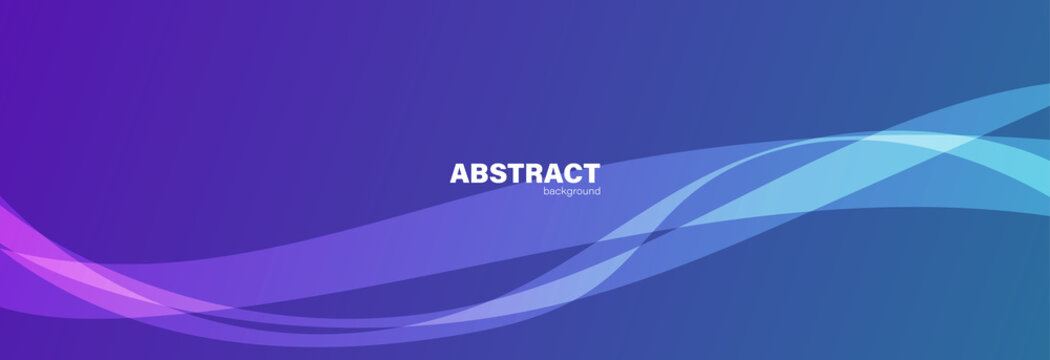 Abstract blue and purple background and curve shape, background with copy space for design, vector.