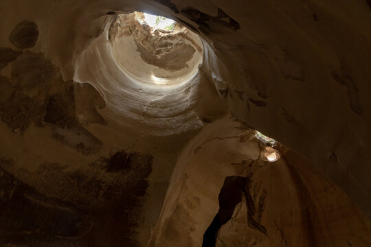 Bell  cave dug at the beginning of the 7th century, used for quarrying stone in Maresha, in Beit Guvrin, Kiryat Gat, in Israel