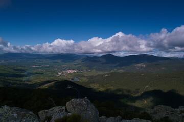 krajobraz góry widok natura przyroda drzewa rośliny - fototapety na wymiar