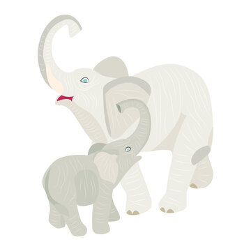 Elephant, vector image. A symbol of love, eternity, wisdom, supreme power. Feng Shui talisman.
