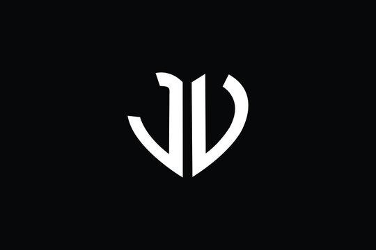 JV Letter Logo Design. Creative Modern J V Letters icon vector Illustration.