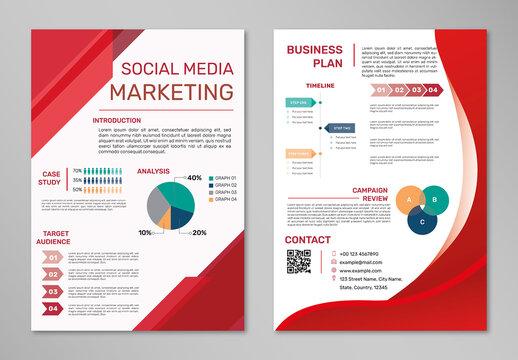 Social Media Marketing Poster Editable Layout