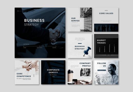 Social Media Marketing Editable Layout Set