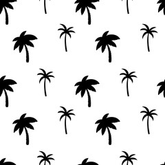 Seamless pattern with palm trees.