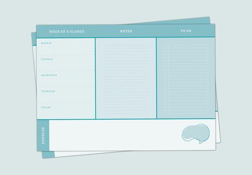 Simple Blue Planner