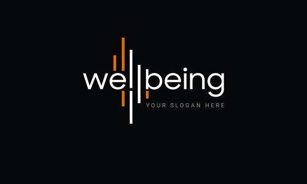 Modern logo design wellbeing