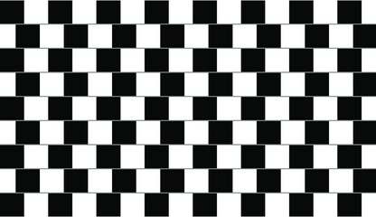Fototapeta premium Optical illusion - straight parallel lines look uneven and crooked.
