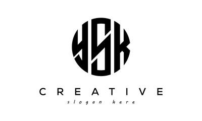 Fototapeta YSK Letters creative circle logo design vector obraz