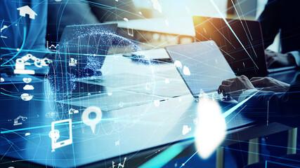 Obraz ビジネスとテクノロジー - fototapety do salonu