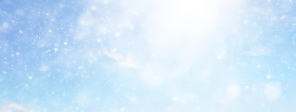 abstract snow background sky snowflakes gradient