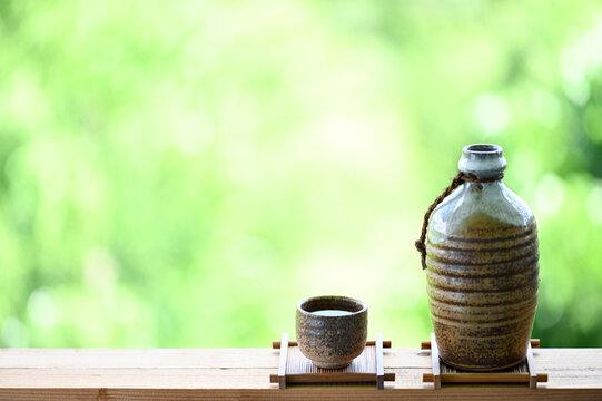 japanese sake oriental drink style on the table