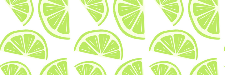 Fototapeta Abstract fruit lime lemon seamless pattern. Cool background for banner, card, poster. Bright print for wallpaper, wrapping paper, clothing, covers, notebooks, tableware, textiles, bedding, food pack obraz