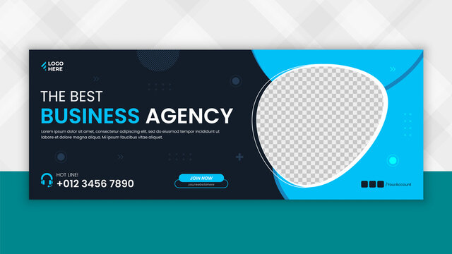 Business Digital marketing facebook cover page template, 100% Editable