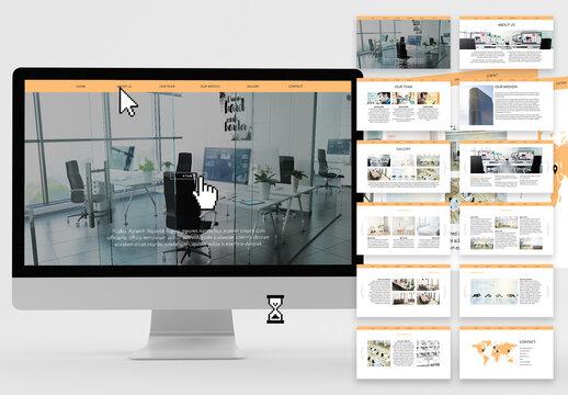 Digital Interactive Business Pitch Desk Presentation