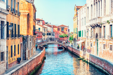 The city of Venice in the morning, Italy