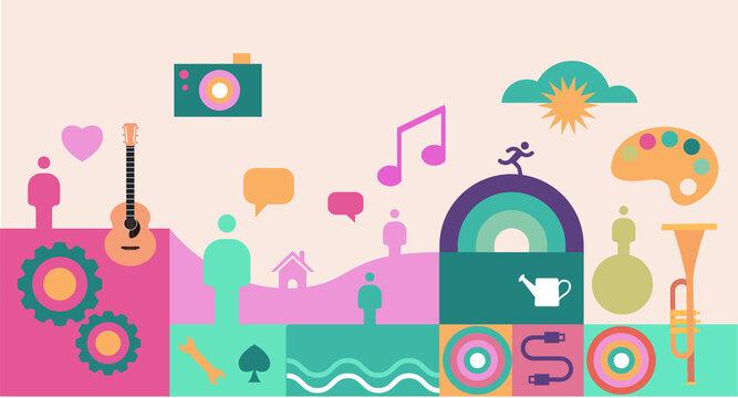 Associations forum poster illustration