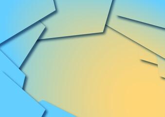 Fototapeta Nowoczesne abstrakcyjne tło w niebieskich i żółtych odcieniach do projektowania grafiki, tekstu i wiadomości. Gradientowe tło dla produktów technologicznych, biznesowych lub elektronicznych.