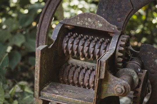 old grain grinding machine