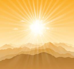 mountain sunny - fototapety na wymiar