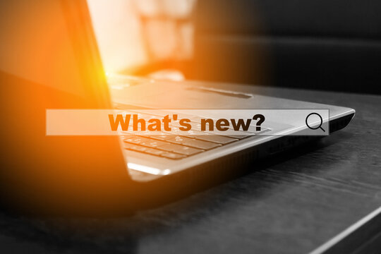 Internet search question - What's new. The concept of finding fresh information from the world of fashion, business, finance.
