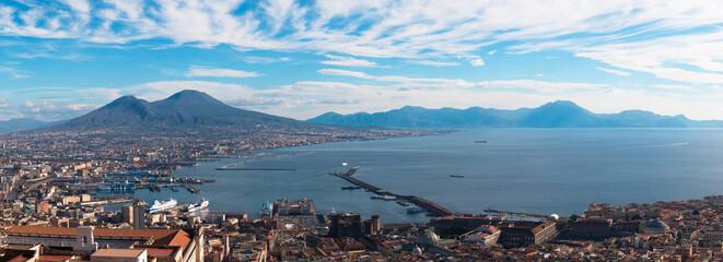 Napoli (Naples) and mount Vesuvius in the background