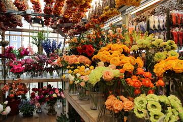 Wall Murals Flower shop Flowers at the Amsterdam market