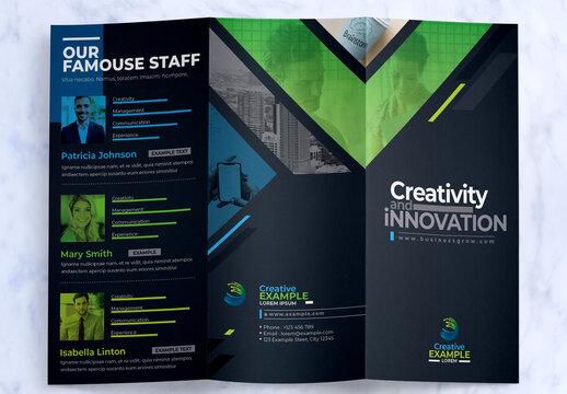 Creative Tri-Fold Brochure Design with Creative Shapes