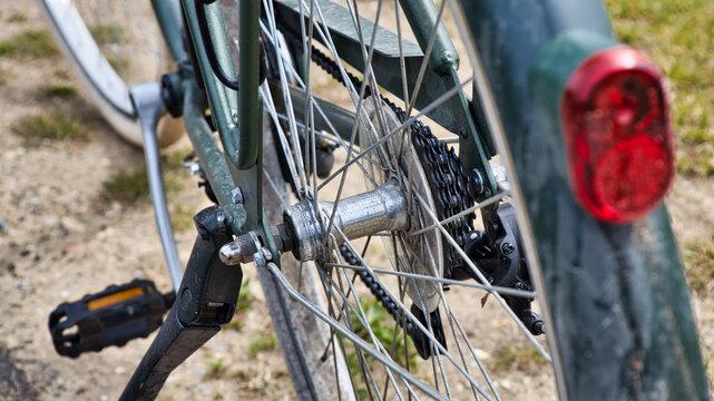 Fahrrad Detail vom Hinterrand mit