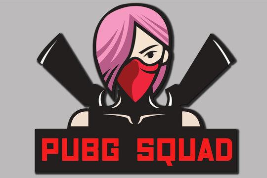 gunslinger girl mask hood rifle shooter logo