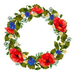 Wreath of wildflowers