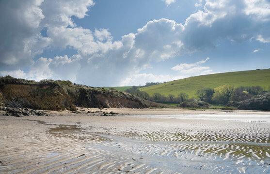 Wonwell Beach on the Erme Estuary, Devon, England